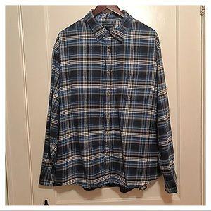 {Lands' End} Flannel Shirt, XXL